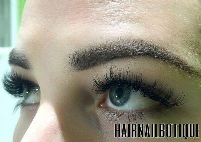 eyelash and eyebrow service